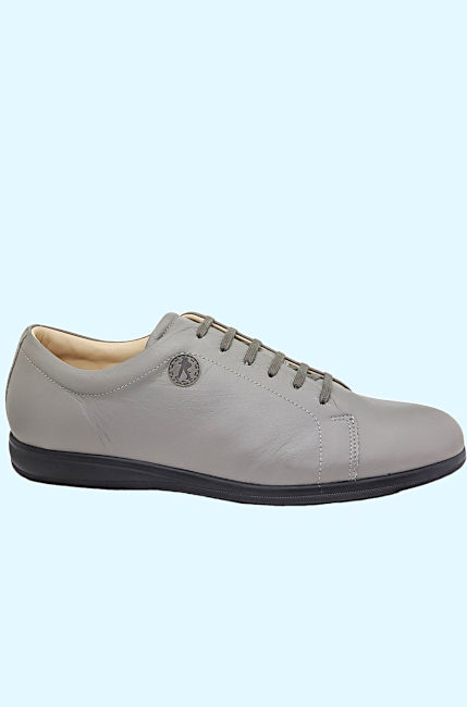 Smart Business Casual Sneakers  Silver Grey Color